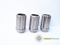 titanium lug nut 12 point open ended
